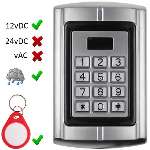 Wiegand Pin and Proximity Keypad Door Entry Systems