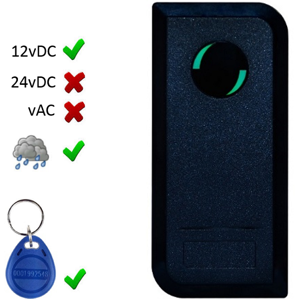 Standalone Proximity Reader with programming Remote Control Door Entry Systems