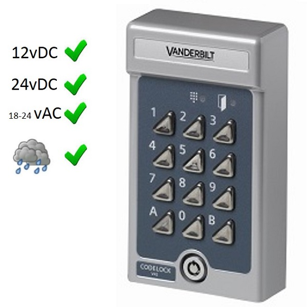 V42 Vanderbilt keypad formerly Siemens K42