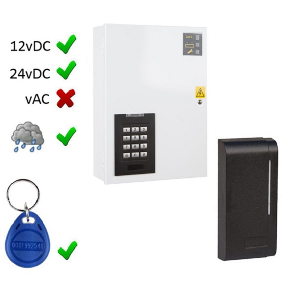Split Access Control reader with separate controller
