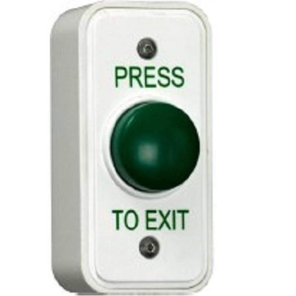 Plastic Architrave Green Dome Exit Button / Plastic Narrow Dome Request to Exit Door Entry Systems