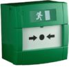 Resettable Call Point - Double Pole in Green