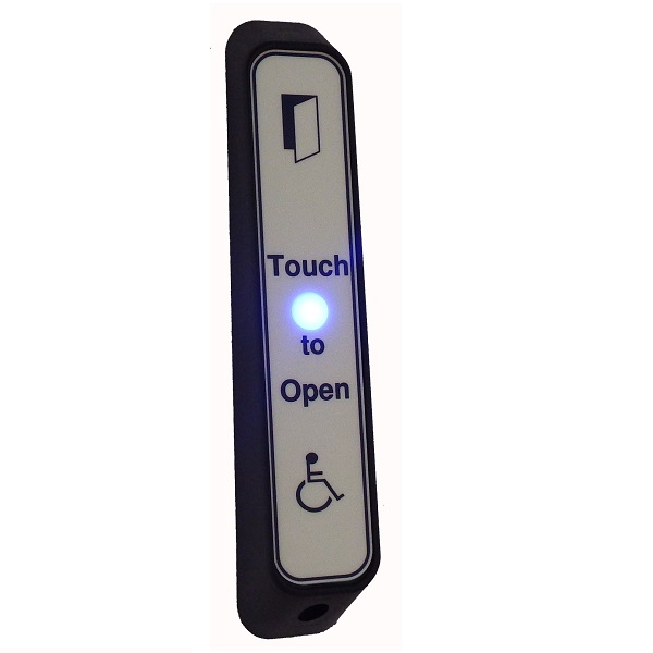 Narrow DDA Touch Exit with LED, Sounder and Wheelchair LOGO Door Entry Systems