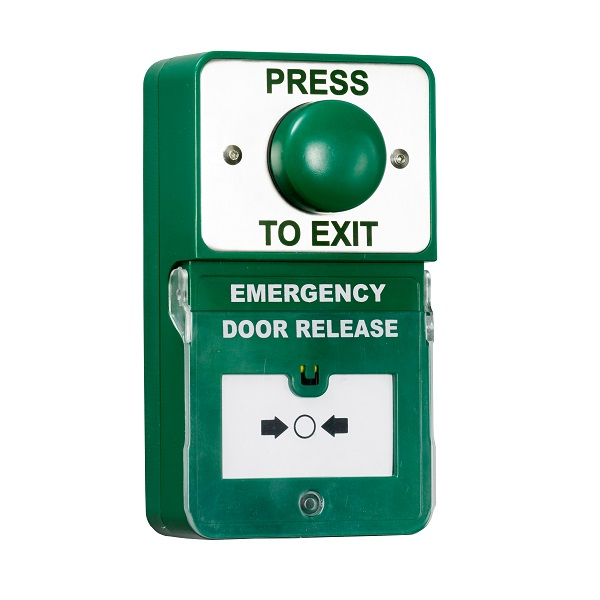Green Dome Exit and Emergency Door Release Dual Exit Unit with Sounder Door Entry Systems