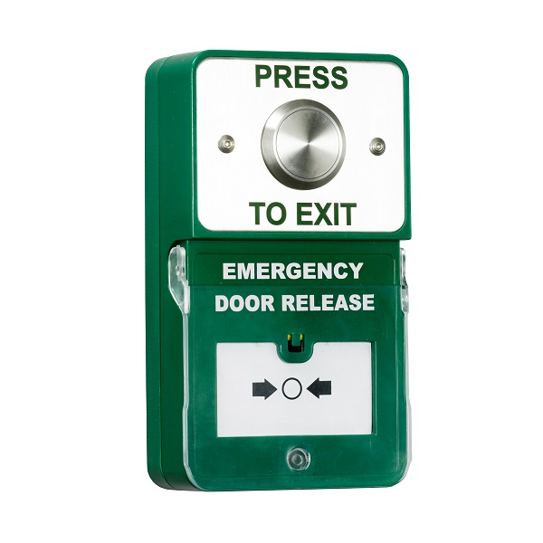 Stainless Exit and Door Release (Emergency) Unit with Sounder / Alarm Door Entry Systems