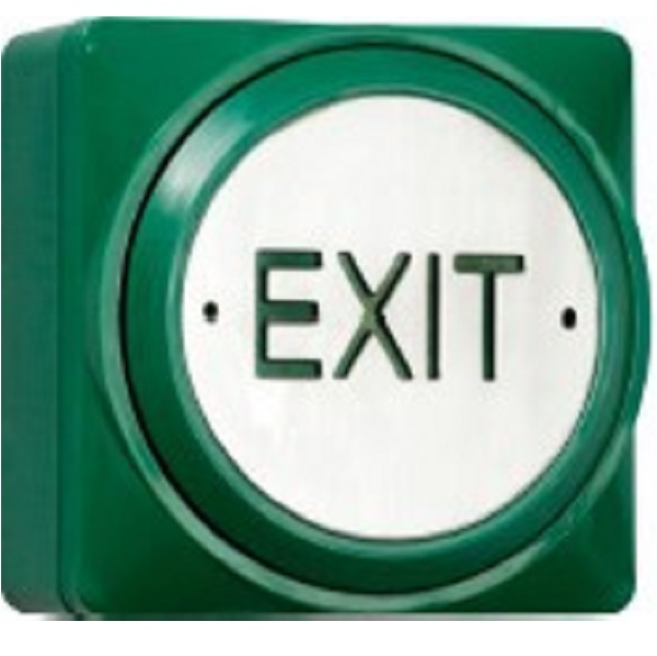 Surface Fit Large Green Plastic Exit Button Door Entry Systems