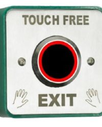 Touch Free Exit Button With LED and Adjustable Timer and Proximity Door Entry Systems