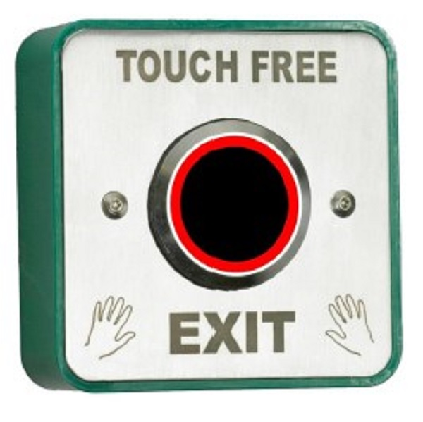 Touch Free Exit Button With LED and Adjustable Timer and Proximity