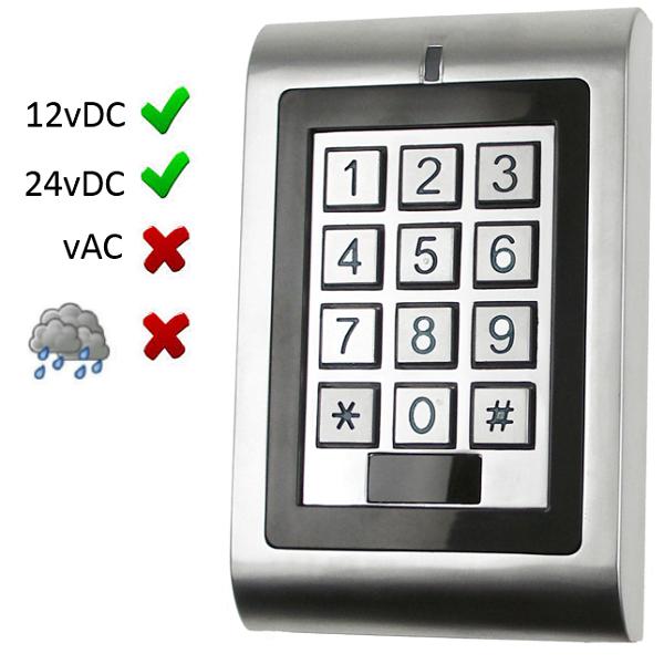 Internal Keypad 12/24vDC Door Entry Systems