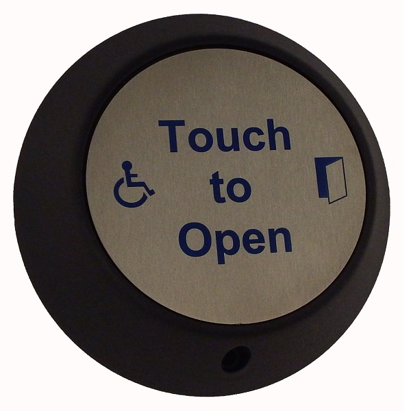 Round Touch DDA Exit with LOGO and Sounder indication Door Entry Systems