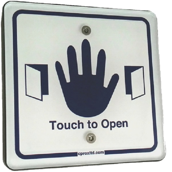 Wireless Square Touch Exit with LED and Sounder