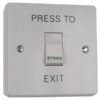 Plastic Architrave Green Dome Exit Button / Plastic Narrow Dome Request to Exit