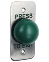 Architrave Flush Green Dome Exit Button / Narrow Exit
