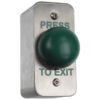 Architrave Surface Green Dome Exit Button / Narrow Surface Exit