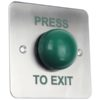 Architrave Surface Green Dome Exit Button / Narrow Surface Exit Door Entry Systems