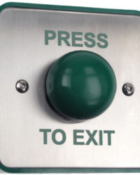 Surface Green Dome Exit Button / Surface and Weatherproof Exit