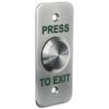 Surface Stainless Exit Button – Narrow Surface Exit Door Entry Systems