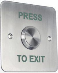Flush Stainless Exit Button / Single Gang Exit