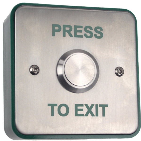 Surface Stainless Exit Button / Single gang Surface Exit