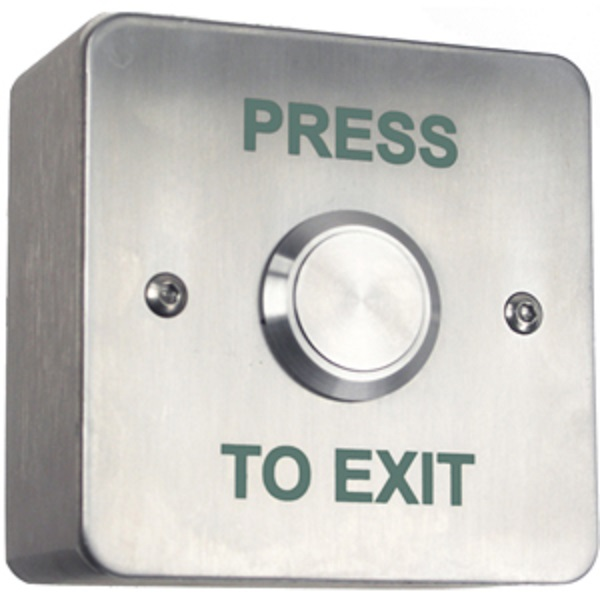 Surface Stainless Exit Button / Single Gang Surface Exit Door Entry Systems
