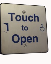 Wireless DDA Touch Exit with Wheelchair LOGO and Sounder indication