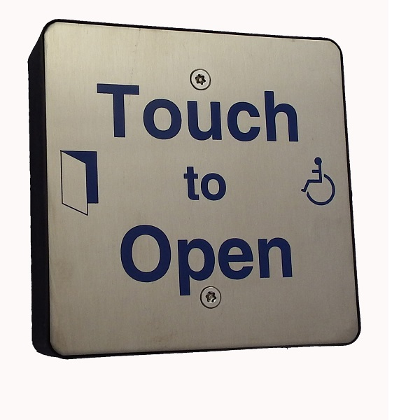 Square DDA Touch Exit with Wheelchair LOGO and Sounder indication Door Entry Systems