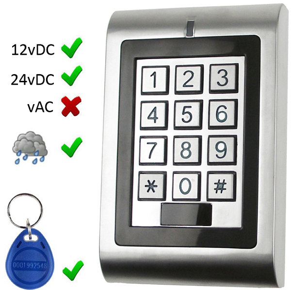 Pin and Proximity Door Keypad Door Entry Systems