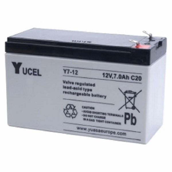 7ah 12volt Yucell Battery Back Up Door Entry Systems