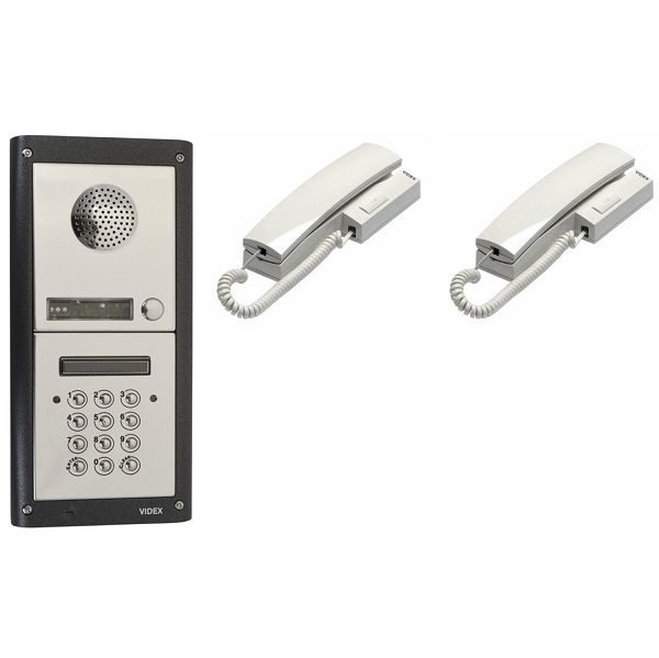 2 Button Door Entry Kit with Keypad – 2 Way Audio Entry Door Entry Systems