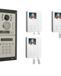3 Apartment Video Door Entry with Keypad - 3 Way Video System