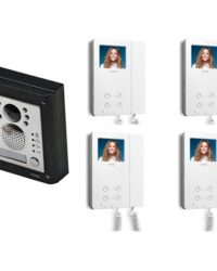 4 Way Video Entry System- Videx 4 Button Colour Video Kit Door Entry Systems