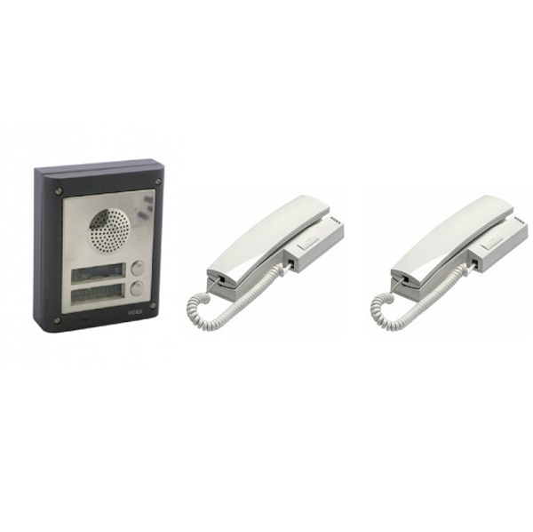 2 Way Videx Audio Door Entry Kit – 2 Button Surface Entry Kit Door Entry Systems