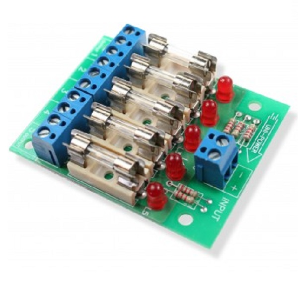 5 x 1amp Fuse Board with LED indication