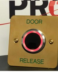 Brass Exit Button With LED and Adjustable Timer and Proximity
