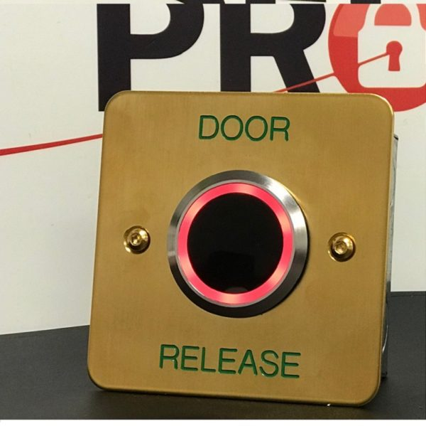 Brass Exit Button With LED and Adjustable Timer and Proximity Door Entry Systems