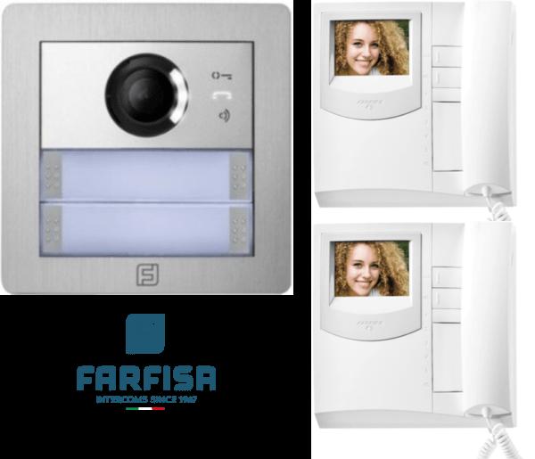 Farfisa Kit DUO 2way Alba Panel Exhito Monitor Door Entry Systems