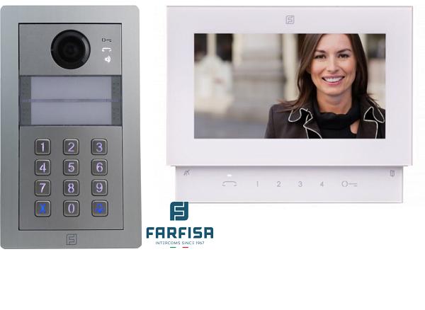 Farfisa Kit DUO 1way Alba c/w Rainhood, Keypad & Sette Monitor Door Entry Systems