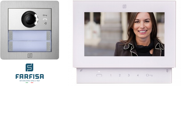 Farfisa Kit DUO 1way Alba Sette Monitor Door Entry Systems