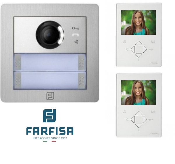 Farfisa DUO 2way Alba ZHero Video Kit Door Entry Systems