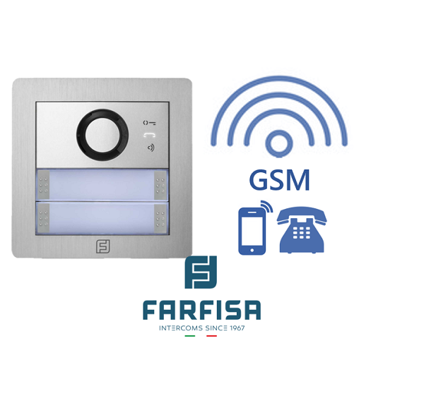 Farfisa DUO MYCOM 2button Alba GSM Audio Kit Door Entry Systems