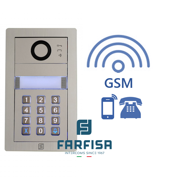 Farfisa DUO MYCOM 2button Alba Keypad GSM Audio Kit Door Entry Systems