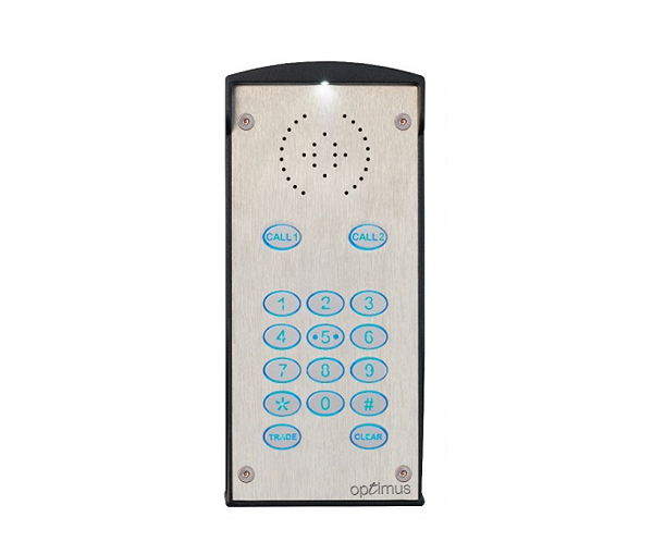 Optimus 2 Button With Keypad GSM Entry Door Entry Systems