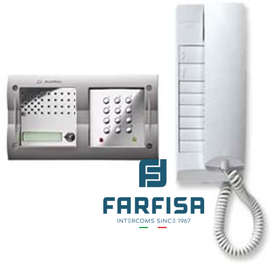 Farfisa 1 Button Keypad / 1 Handset Flush Audio Kit Door Entry Systems