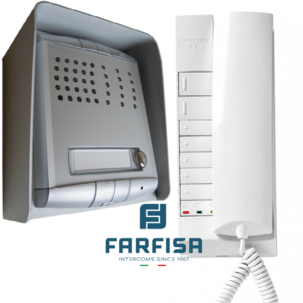 Farfisa 1 Button Profilo / 1 Handset Surface Audio Kit Door Entry Systems