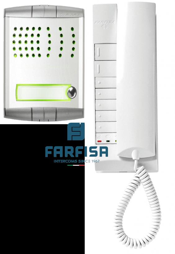 Farfisa Profilo 1 Button / 1 Handset Flush Audio Kit Door Entry Systems