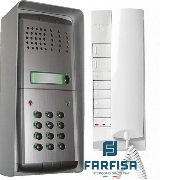 Farfisa Profilo 1 Button With Keypad / 1 Handset Surface Audio Kit