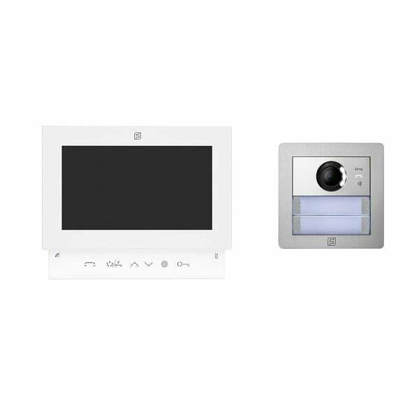 Farfisa Pluggy 1 Button Video Kit Flush