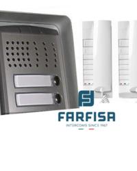 Farfisa 2 Button Profilo / 2 Handset Surface Audio Kit